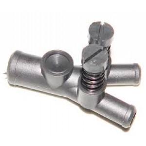 Дозатор газа 1 вход-2 выхода с 2-мя регулировками пластик