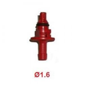 Жиклёр (штуцер) калибровочный к форсункам AEB 1.6 мм красный