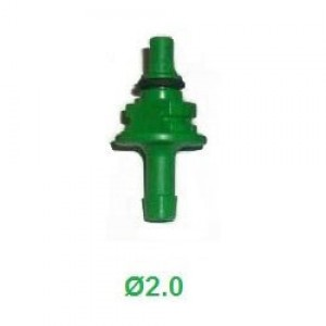 Жиклер (штуцер) калібрувальний до форсунок AEB 2.0 мм зелений