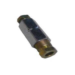 Переходник соединительный D 6 mm-D 6 mm